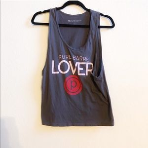 Pure Barre muscle crop top tank
